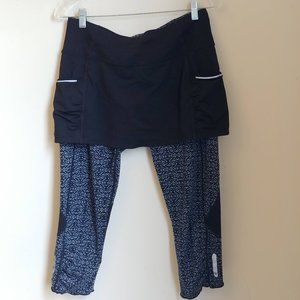 Athleta Dream Acceleration 2 in 1 Capri's Skirt